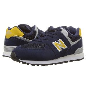Baby New Balance Wide Sneakers Blue Navy Gold NEW